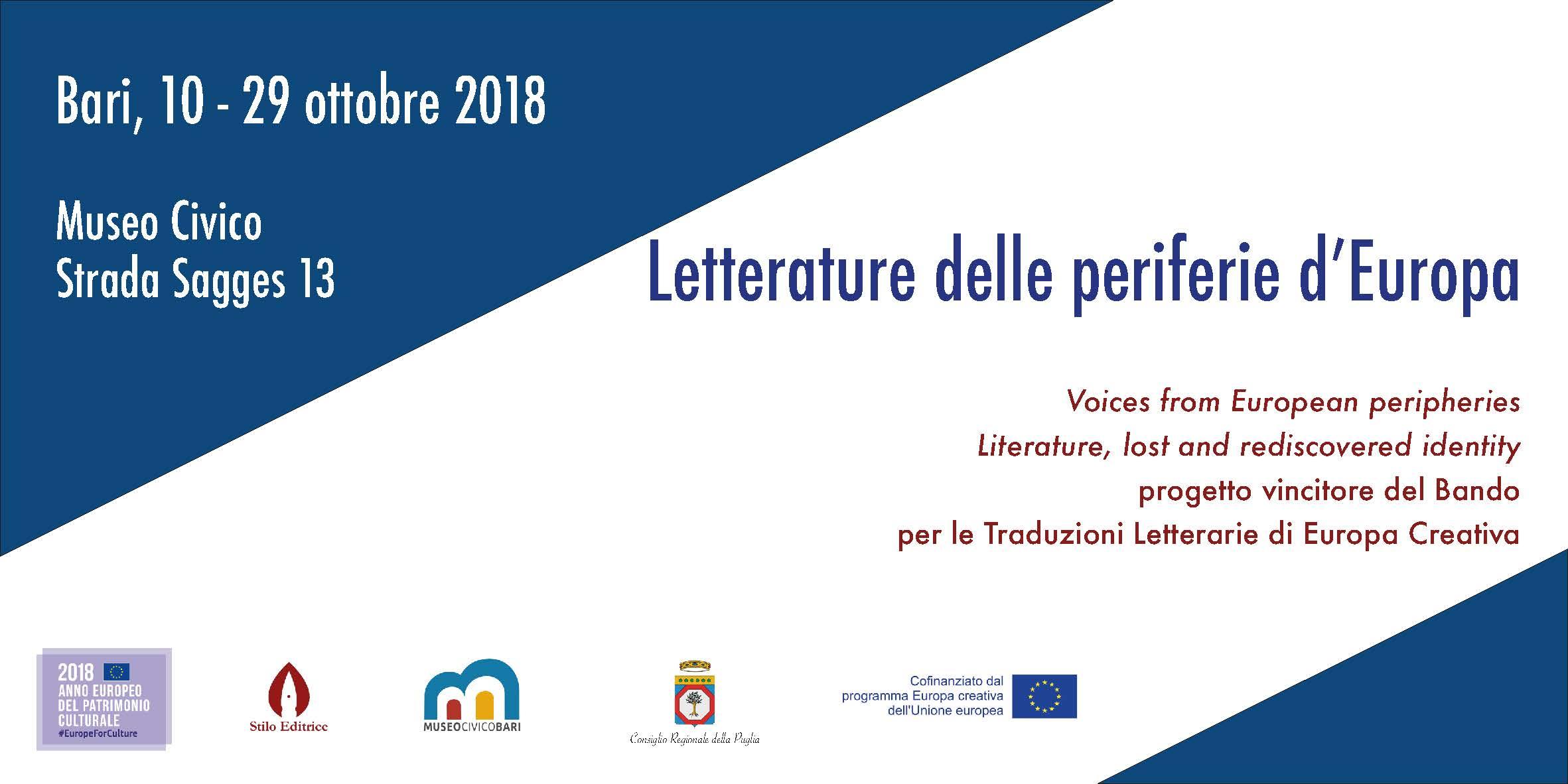 """""""Letterature delle periferie d'Europa"""" dal 10 al 29 ottobre"""